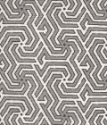 2520-07 MAZE REVERSE TWO COLORS Grey Charcoal Quadrille Fabric
