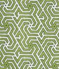 2520-06 MAZE REVERSE TWO COLORS Spring Green DK Green Quadrille Fabric