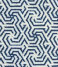 2520-03 MAZE REVERSE TWO COLORS Windsor Navy on Tint Quadrille Fabric