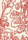 302752F MONTY OUTLINE Burnt Orange on Tint Quadrille Fabric