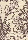 302756F MONTY OUTLINE New Brown on Tint Quadrille Fabric