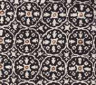 149-30 NITIK II Black Brown on White Quadrille Fabric