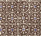 149-38 NITIK II Brown Navy on Tint Quadrille Fabric