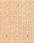 149-75 NITIK II Apricot Bali Blue on White Quadrille Fabric