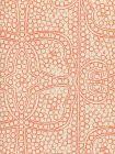 CP1000-06 PERSIA Orange on Taj Ecru Quadrille Fabric