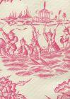 306253F ROYAL JOURNEY II Magenta on Tint Quadrille Fabric