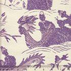 7250-03 TABLEAU II Purples Lilacs on Tint Quadrille Fabric