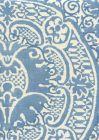 302217F VENETO Denim Blue on Tint Quadrille Fabric