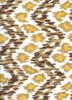 7335V-05T ZIZI VERTICAL Brown Camel Gold on Tint Quadrille Fabric