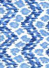 7335V-01W ZIZI VERTICAL Navy French Sky on White Quadrille Fabric