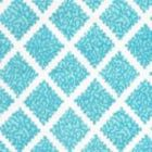 JF01000-08 SHANGHAI Turquoise on White Quadrille Fabric