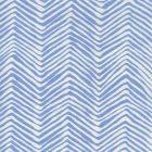 AC303-15WL PETITE ZIG ZAG French Blue on White Linen Quadrille Fabric