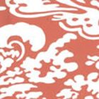 2335-49WP SAN MARCO REVERSE Terracotta On Almost White Quadrille Wallpaper