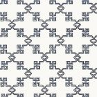 SC 0007WP88373 WP88373-007 SUZHOU LATTICE Marine Blue Scalamandre Wallpaper