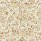 16598-001 MANSFIELD DAMASK PRINT Ivory Burnished Gold Scalamandre Fabric