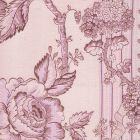 306770F-01L TOILE DES ROSES Pinks on Pale Pink on Linen Quadrille Fabric