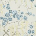 W3507-350 PEONY TREE Indigo Kravet Wallpaper
