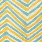 AC950-10 ZIG ZAG MULTI COLOR Turquoise Yellow on Tint Quadrille Fabric