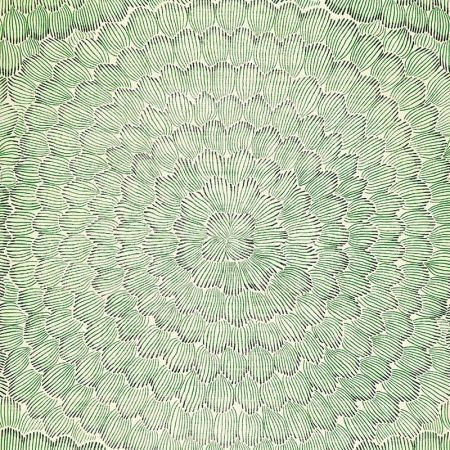 Schumacher Feather Bloom Emerald Ore Wallpaper Discount Fabric And
