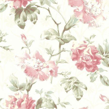 2614 21004 Juliana Rose Vintage Floral Brewster Wallpaper