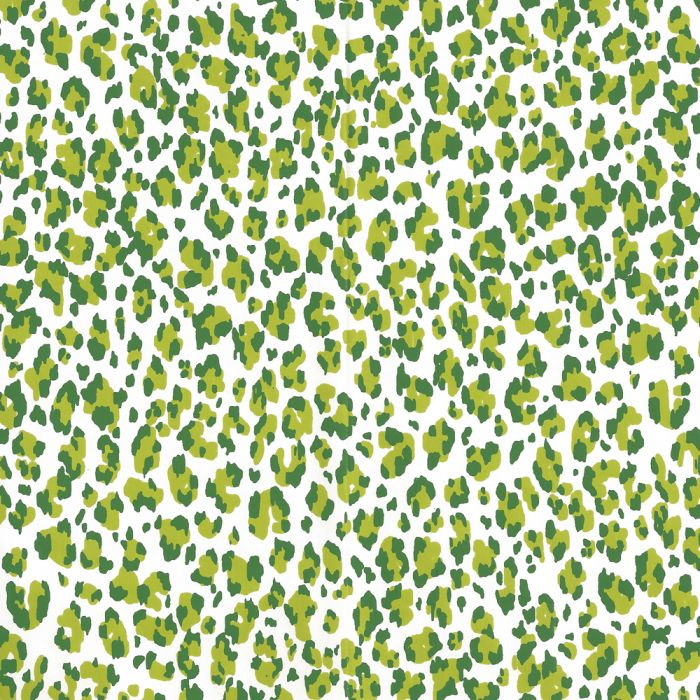 305081awp Bonaparte Lime Forest Green Almost White Quadrille