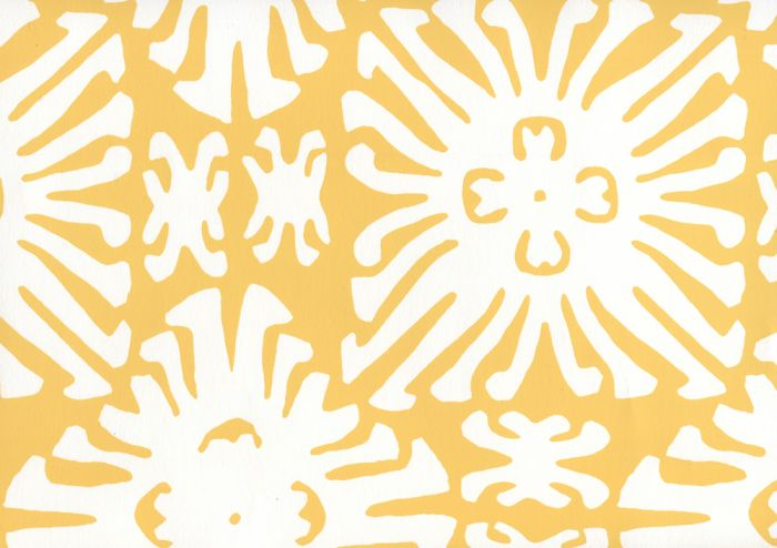 2485WP-03 SIGOURNEY REVERSE SMALL SCALE Yellow On White Quadrille Wallpaper | Discount Fabric and Wallpaper Online Store