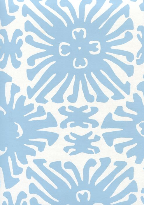 2475WP-10 SIGOURNEY SMALL SCALE French Blue On White Quadrille Wallpaper | Discount Fabric and Wallpaper Online Store