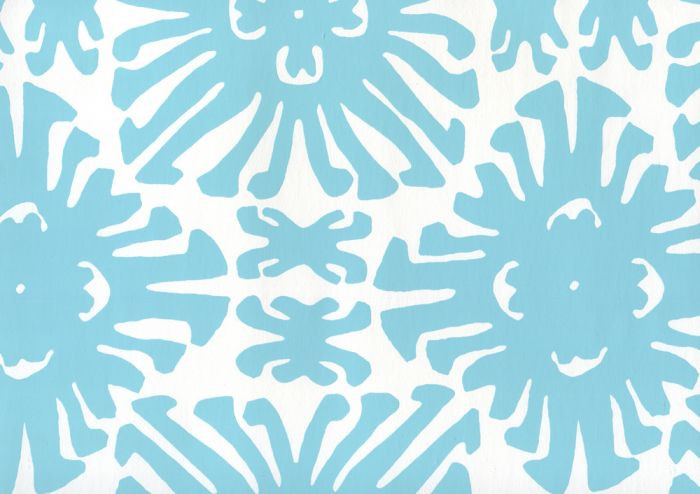 2475WP-01 SIGOURNEY SMALL SCALE Turquoise On White Quadrille Wallpaper | Discount Fabric and Wallpaper Online Store