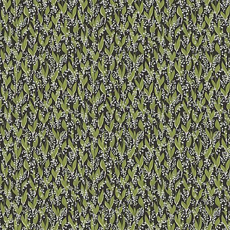 WSB 00810479 LILJEKONVALJ Black Sandberg Wallpaper   Discount Fabric and Wallpaper Online Store